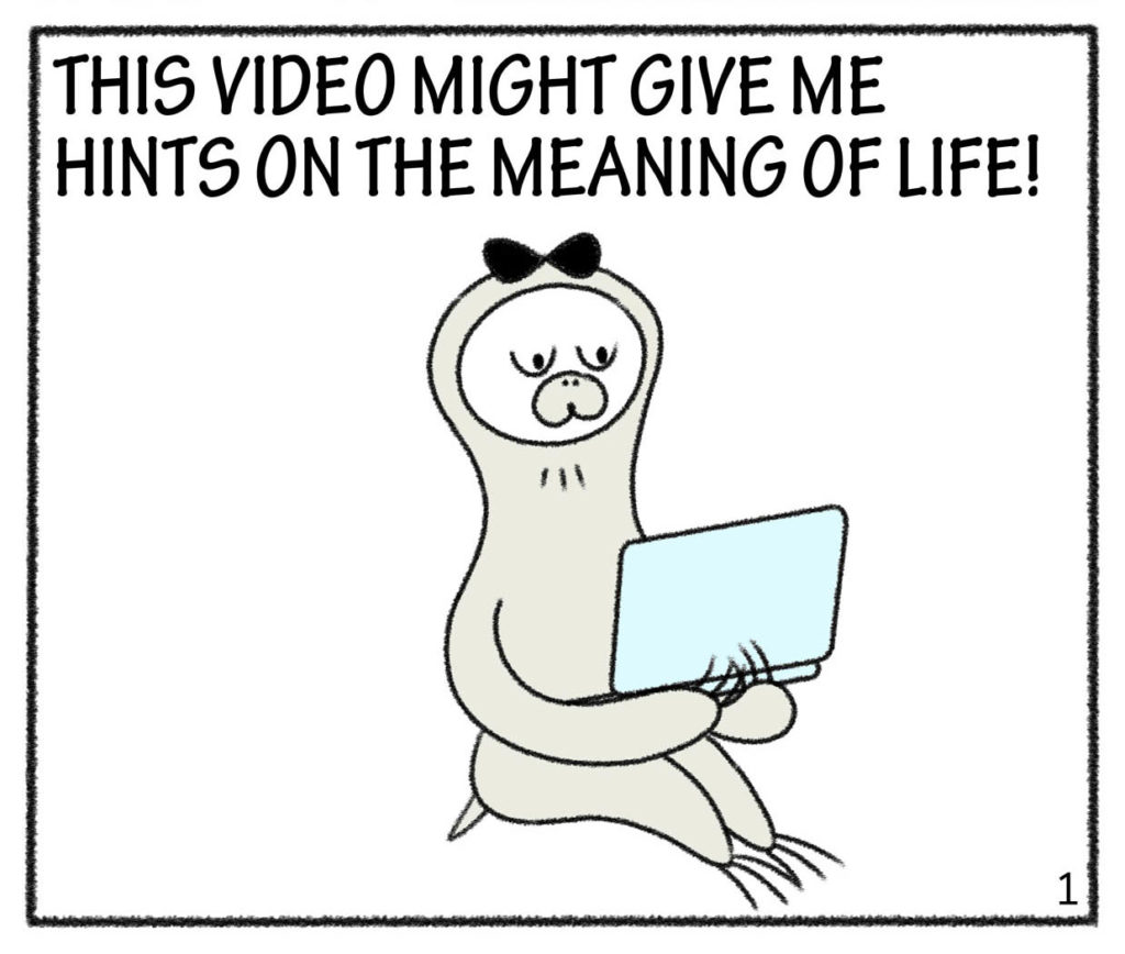 THIS VIDEO MIGHT GIVE ME HINTS ON THE MEANING OF LIFE!
